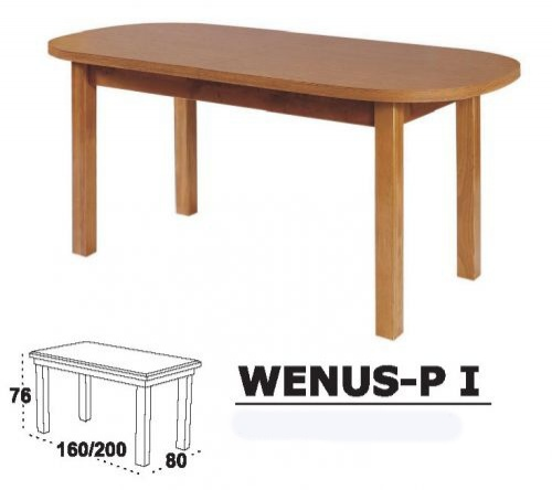 Jídelní stůl WENUS-P I - ovál