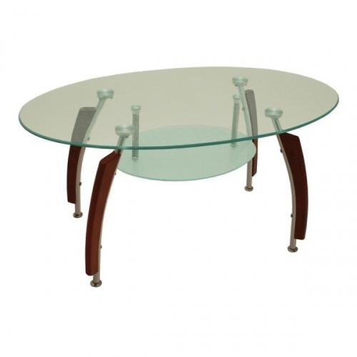 Skleněný jídelní stůl S83